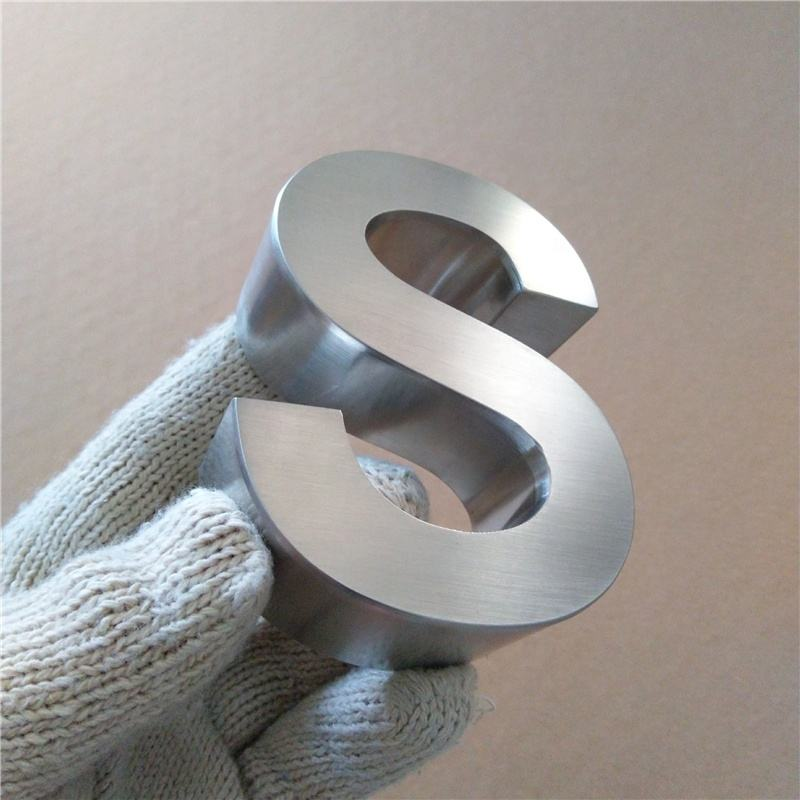 Custom 3D stainless steel letter signage office store wall sign alphabet letters