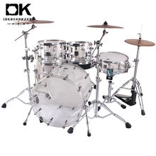 Competitive china factory percussion jazz drumset customize transparent drum