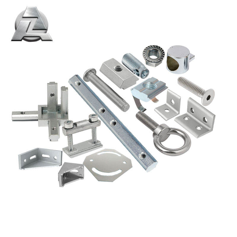 t slot aluminum extrusion framing components fittings hardware parts accessories