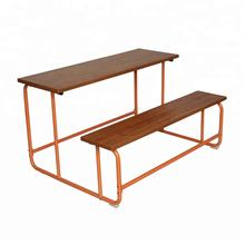 Elementary School Desk Chair, Used School Desk and Bench, Wooden for Asia