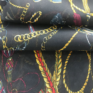 Wholesale high quality woven polyester printed chiffon fabric with cheap price malaysia