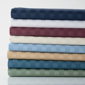 100% cotton satin stripe Wrinkle resistance used hotel bed sheets fabric