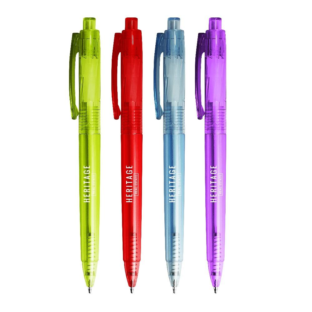 Earth Friendly PET Water Bottles to Recycled PET retractable ball point pen for promotion