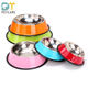 Wholesale nonslip stainless steel dog bowl/pet bowl /cat bowl with rubber base Stainless Steel Pet food bowl Dish