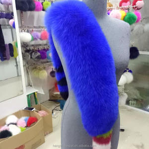 Trendy top quality 푹신한 큰 size real fox fur 스카프