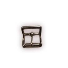 "1"" Center Bar Buckle with lockable prong, Zinc alloy strap buckle in nickel plate"