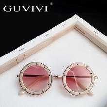 GUVIVI 2019 Fashion Round Child Sunglasses for kids uv400 Kids sunglasses designer