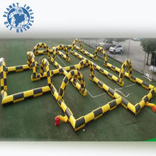 Hot sale durable inflatable go karts race track/race car track for funning