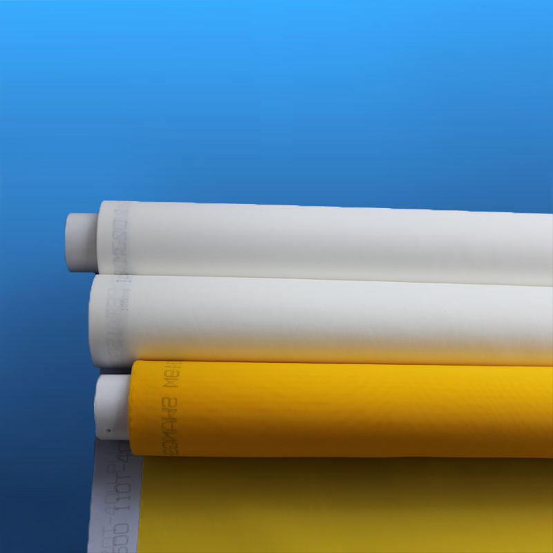 high tension white yellow monofilament polyester silk screen printing mesh fabric / silk screen