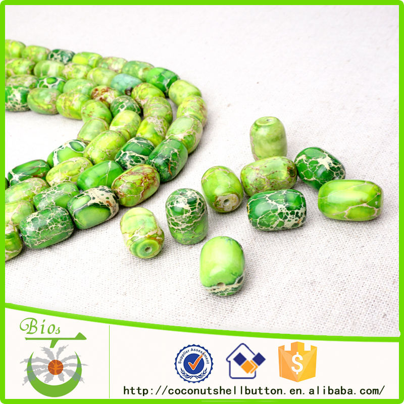 Free sample green artificial turquoise stone bulk beads wholesale