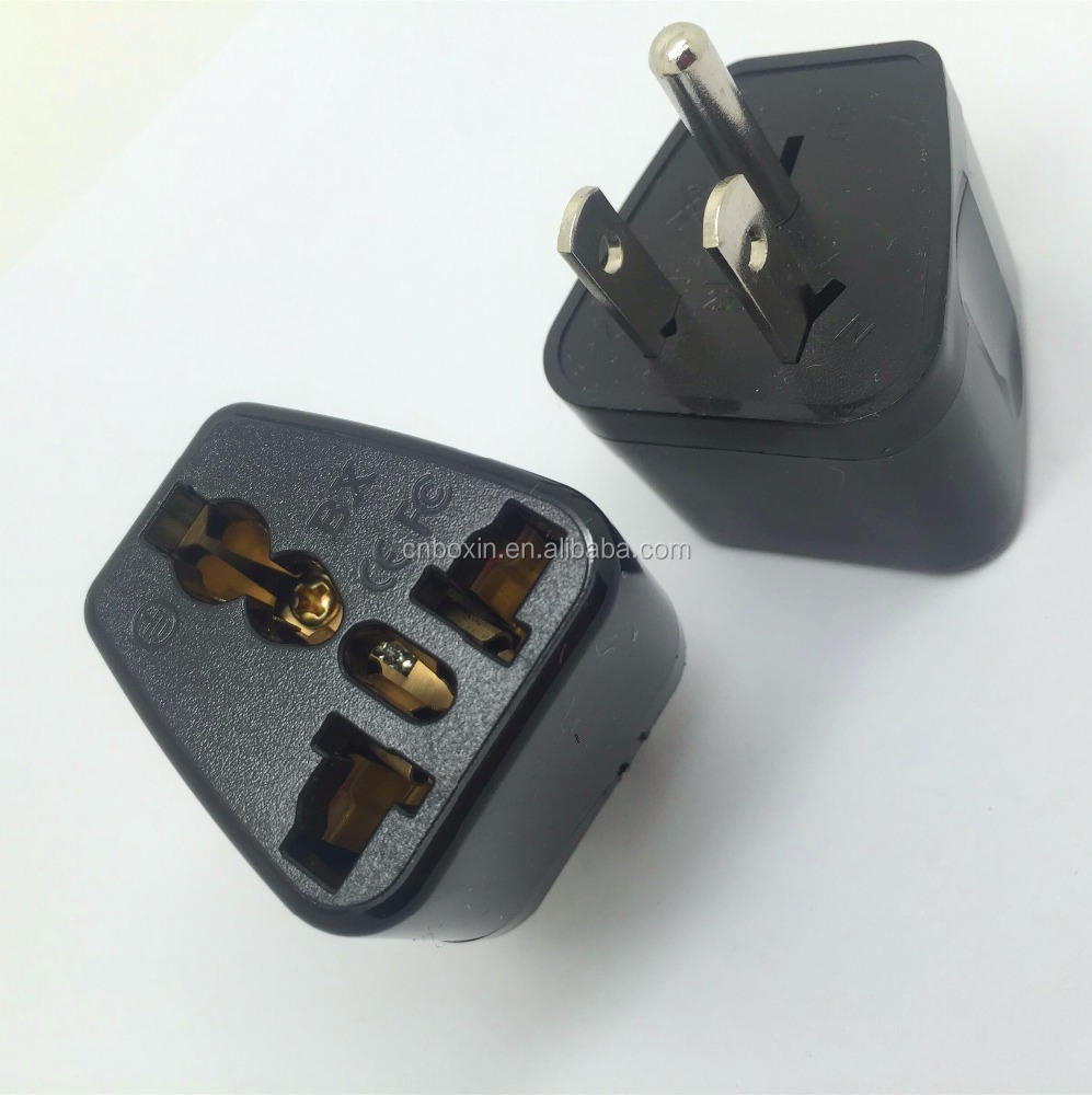 Femmina a maschio 220 v a 110 v spina 3 pin plug adapter