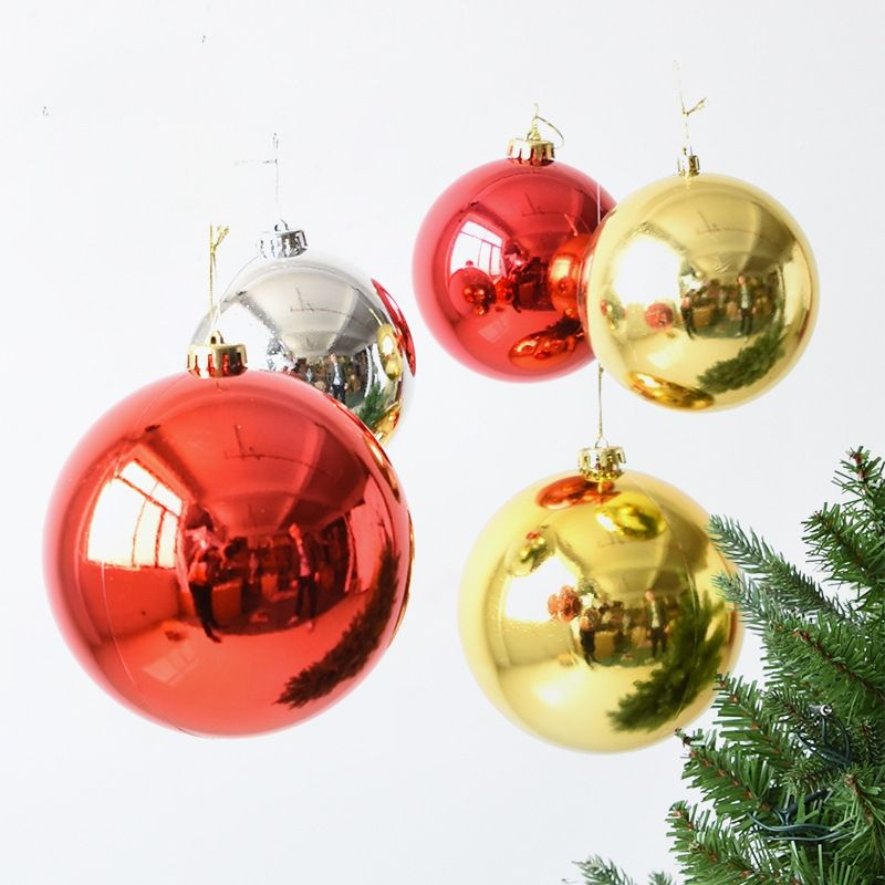 big wholesale hand printed giant logo tin ball plastic flat Christmas balls