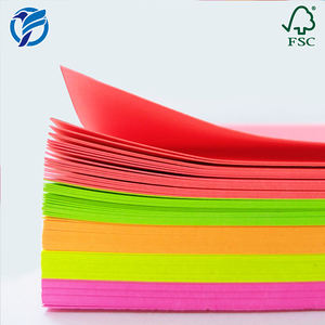Chinese Smooth 180gsm 50 Sheets/Pack Bright Neon Fluorescent Color Paper