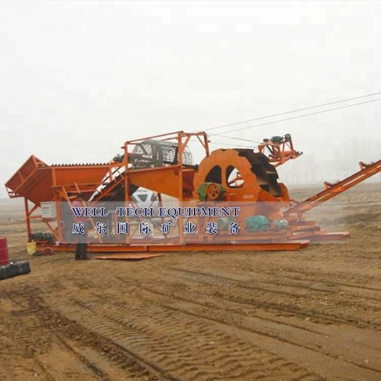 new technical sand washer and dewatering machine for sand produce line