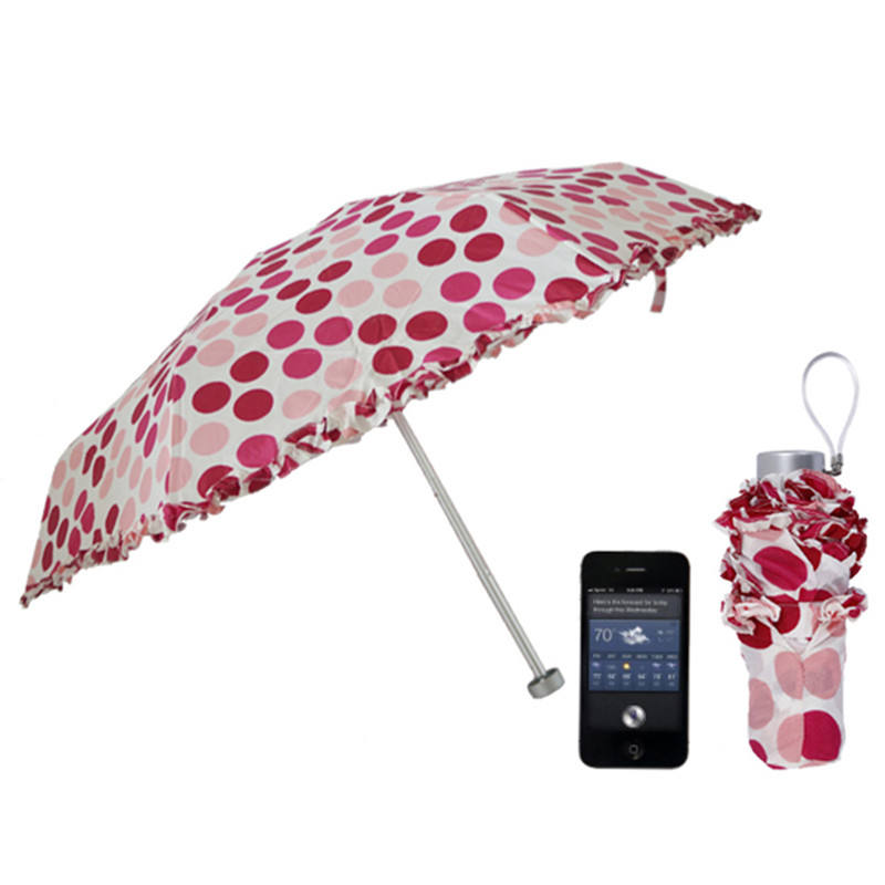 Souvenirs Printed 6K 5 Folding Lady Parasol Lace Umbrella