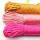 31m per pieceRainBow Color 550 Paracord Rope 7 Strand Parachute Cord
