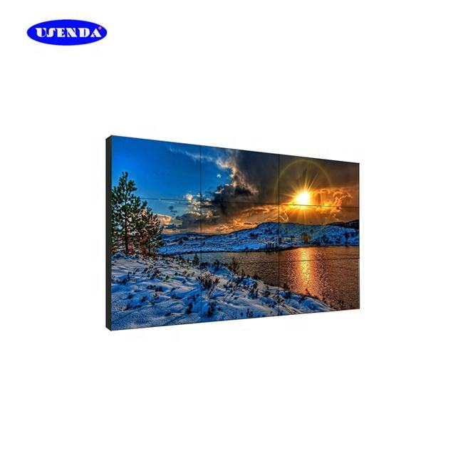 Ultra narrow bezel 1.8 milímetros tv led backlit 55 polegadas lcd video wall