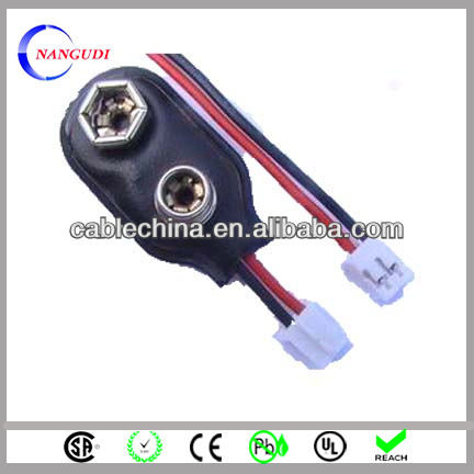 50 Stueck 2 Drahtklemmen 9V Batterien Clip Steckverbinder Halter Schwarz Rot