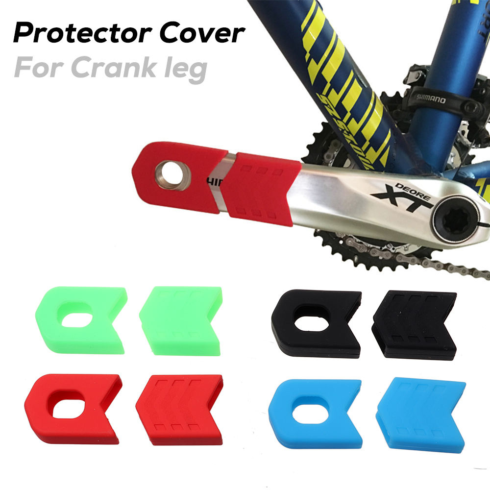 Newest Environmental Silicone MTB Road Bike Crank Arm Protective Sleeves Other Bicycle Accessories Bike Crank Protectors