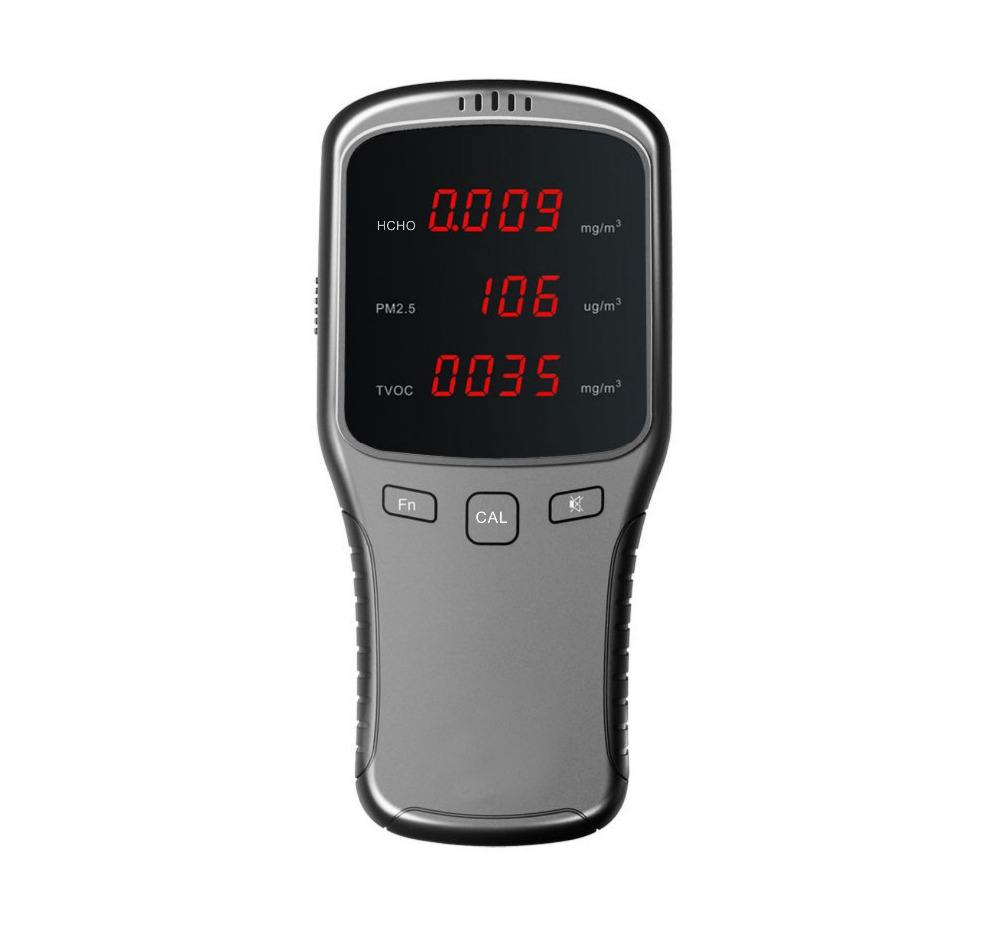 Portable Air Peduli HCHO Monitor Tester & PM1/PM2.5/PM10 Meter