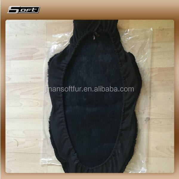 Black Genuine Softest sheepskin seat covers for Car
