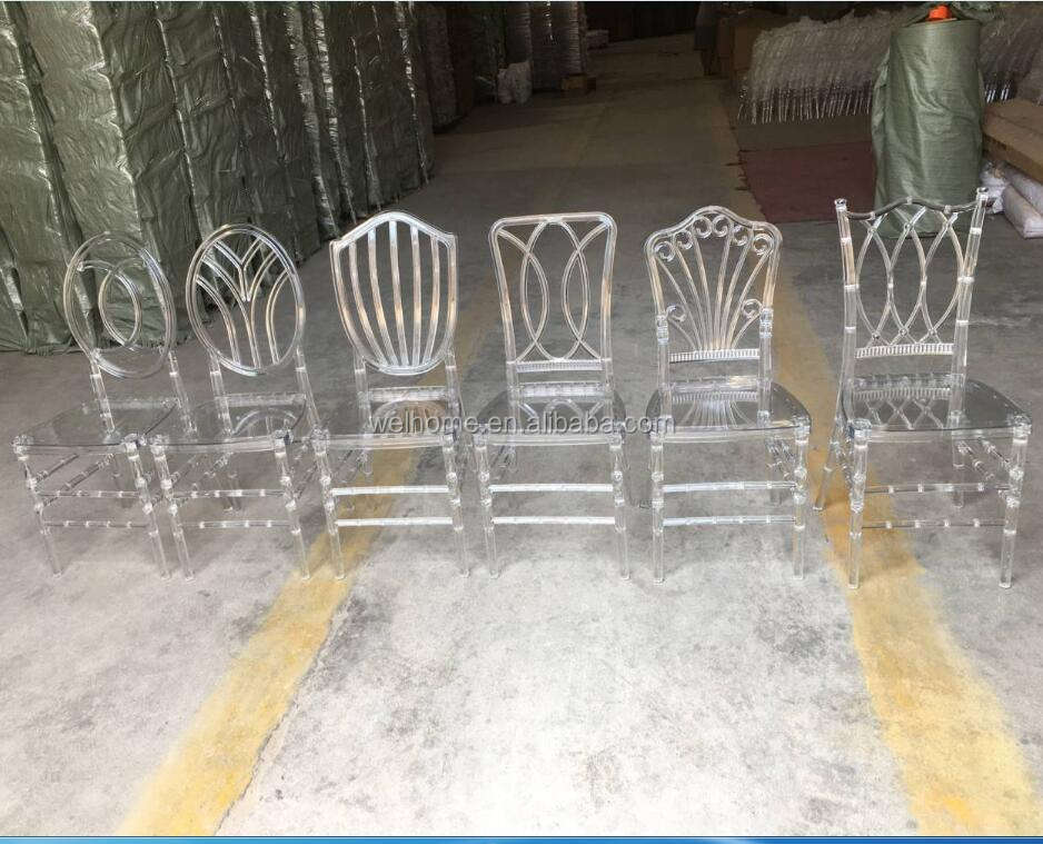 New model clear PC resin wedding chairs