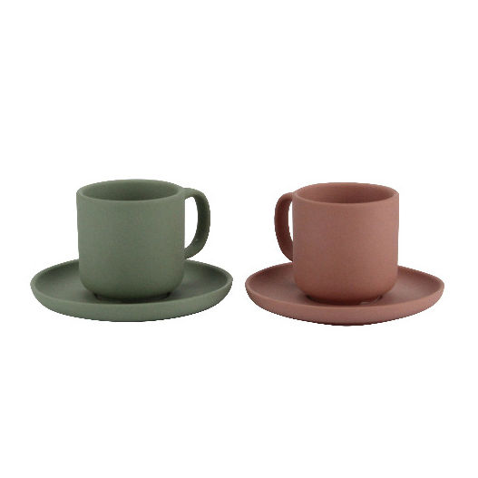 Graceful appearance matte daily used porcelain coffee cups and saucers / cup saucer