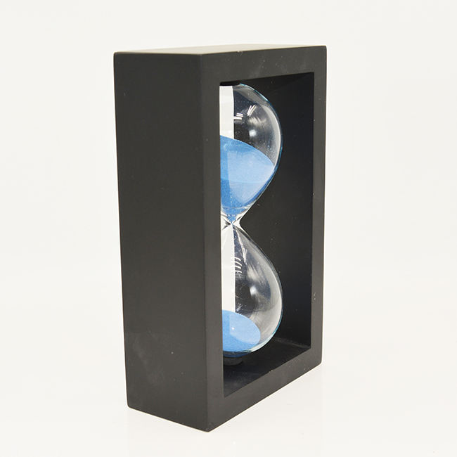 Wood Frame Blue Sand 60 Minute Hourglass Sand Timer