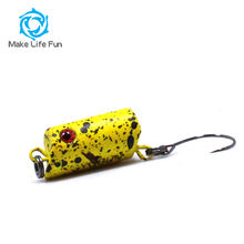MINI Popper Bait Grain Bead Single Barbed Barbless Hook Sinking Popper small fishing lures