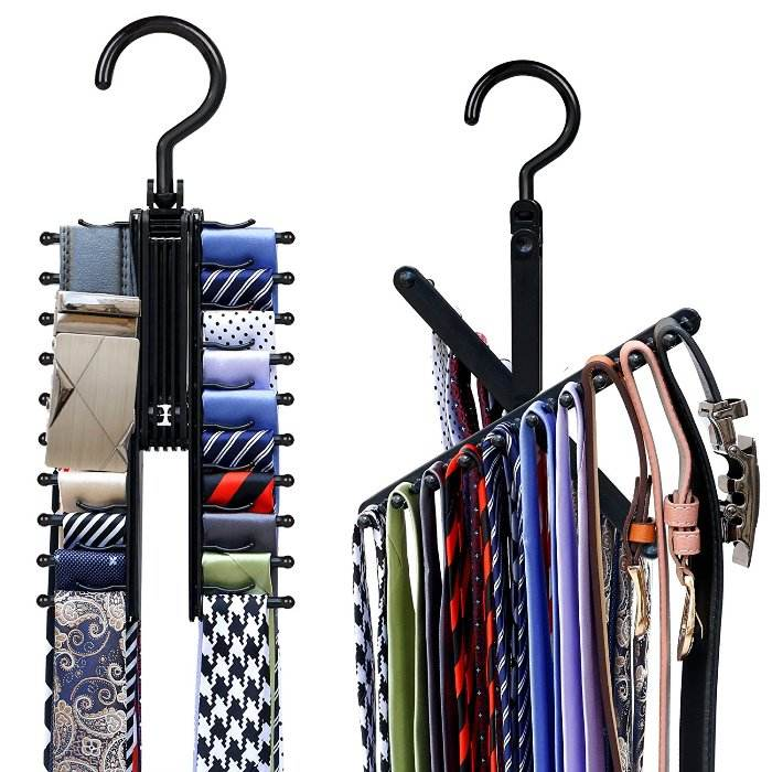 2pcs cross x hangers tie belt rack organizer hanger non-slip clips holder with 360 degree rotation securely up to 20