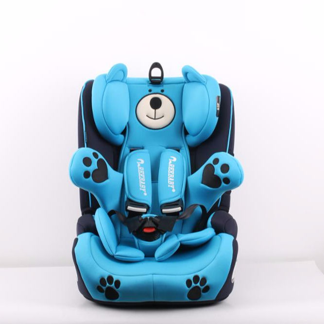 Customized color comfortable baby car seats with cartoon bear seat covers