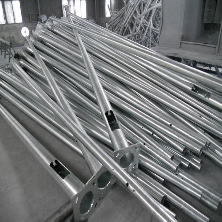3m, 4m, 5m, 6m, 8m, 10m, 12m Height Q235 Q345 Galvanized Steel Street Lighting Pole with factory price