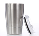 Promotion cheap travel coffee cups double walled 12oz stainless steel coffee tumbler with lid and straw