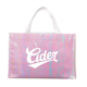 Eco Friendly Reusable Large Top Opening Iridescent Print Logo Non Woven Gift Tote Bag For Clothes