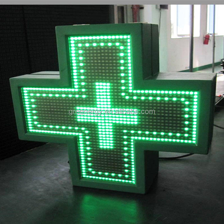 Solo color pantalla LED Cruz farmacia al aire libre Cruz Verde