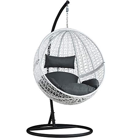 Rattan Wicker Adult Hanging Egg Chair With Stand