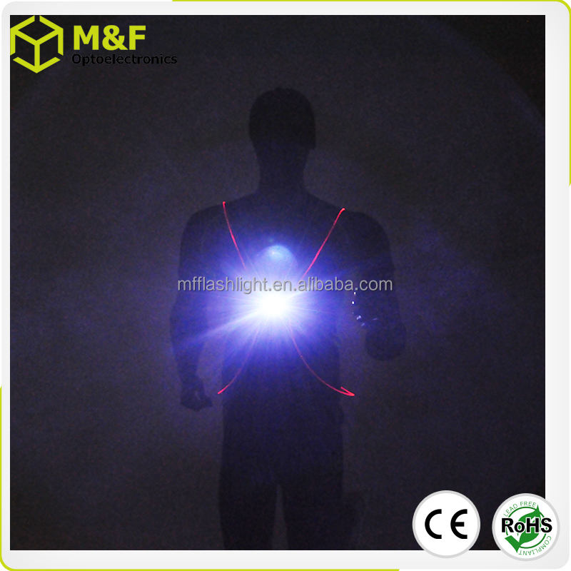 Colorful 3W rechargeable running lights for runners Led safety light