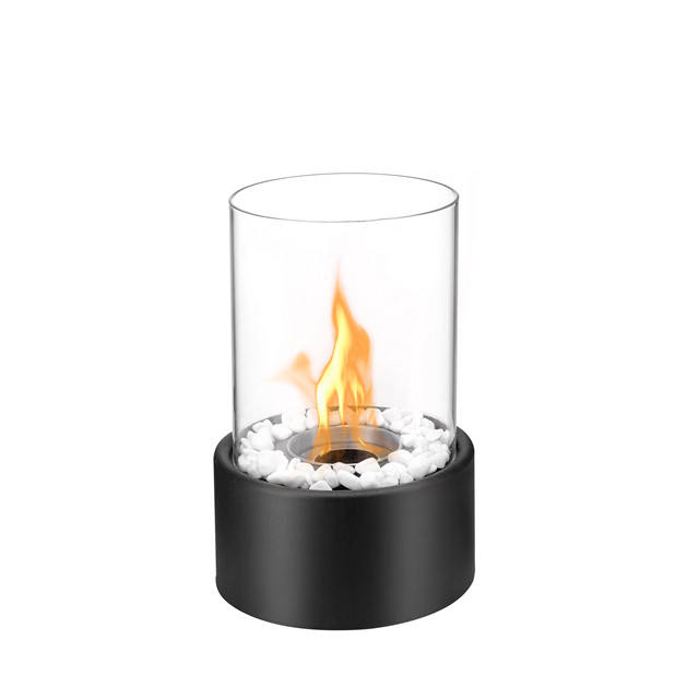 Indoor mobile stainless steel table top bio kamin fireplace