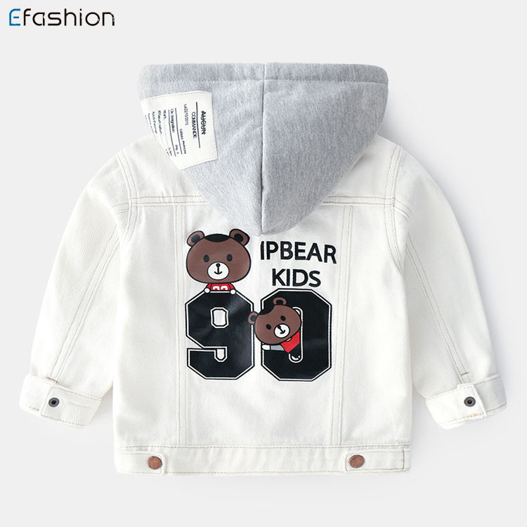 Autumn Children Casual baby boys printing denim jeans jacket