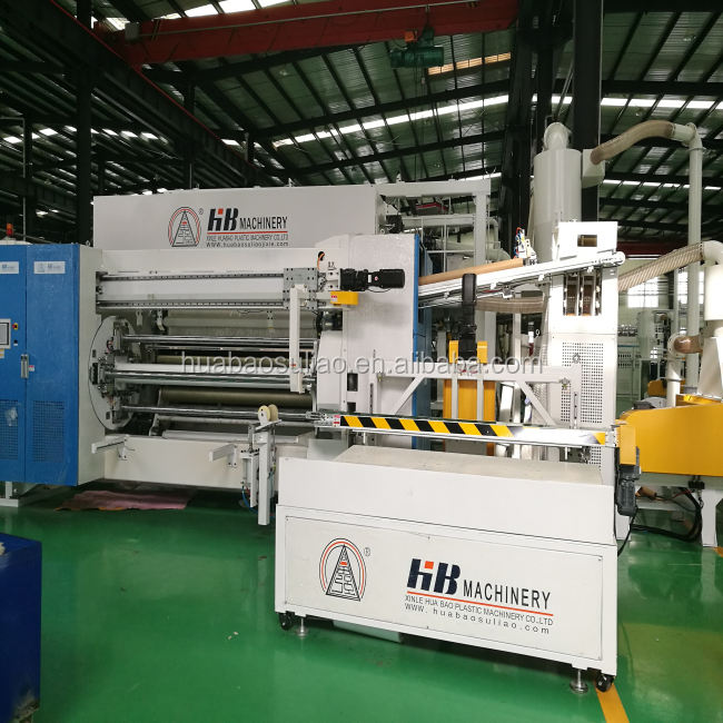 2000mm Three Layers or Five Layers Coextrusion High Speed Cast PE Plastic Stretch Film Line Stretch Film Extruder Machine