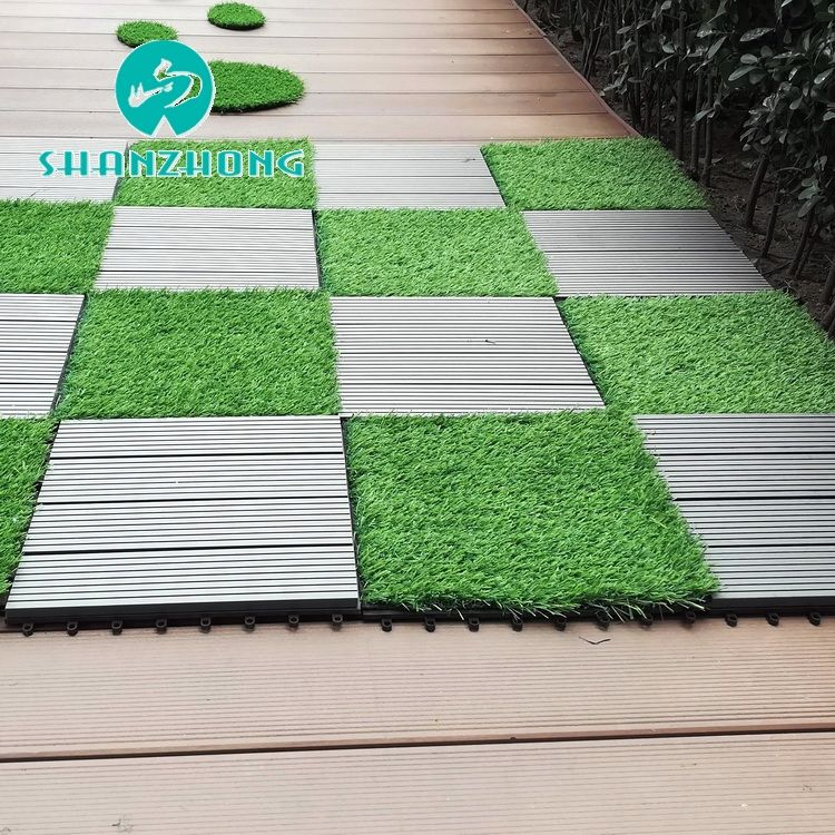 Long useful life outdoor interlock tiles artificial grass and sport flooring