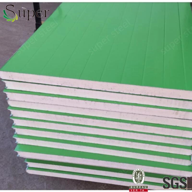 100 ملليمتر بو شطيرة سقف و جدار وحات مع رسمت الصلب ، الفولاذ الصلب المصنوعة في الصين