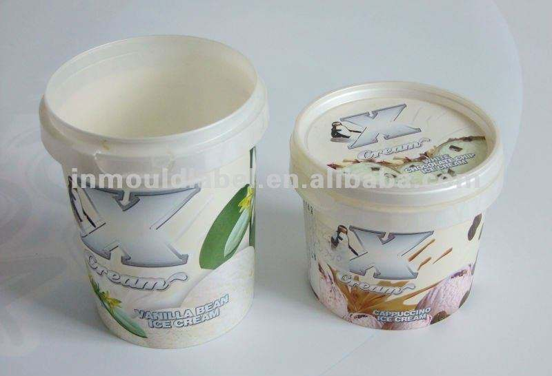 IML ice cream container label / in mold label