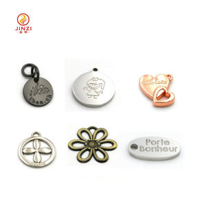Handbag hanging tag custom made metal logo charms