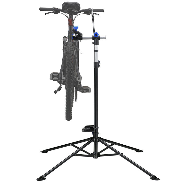 Mechanic Bike Repair Stand Adjustable 101 to 171cm Cycle Rack Bicycle Workstand Tool Tray