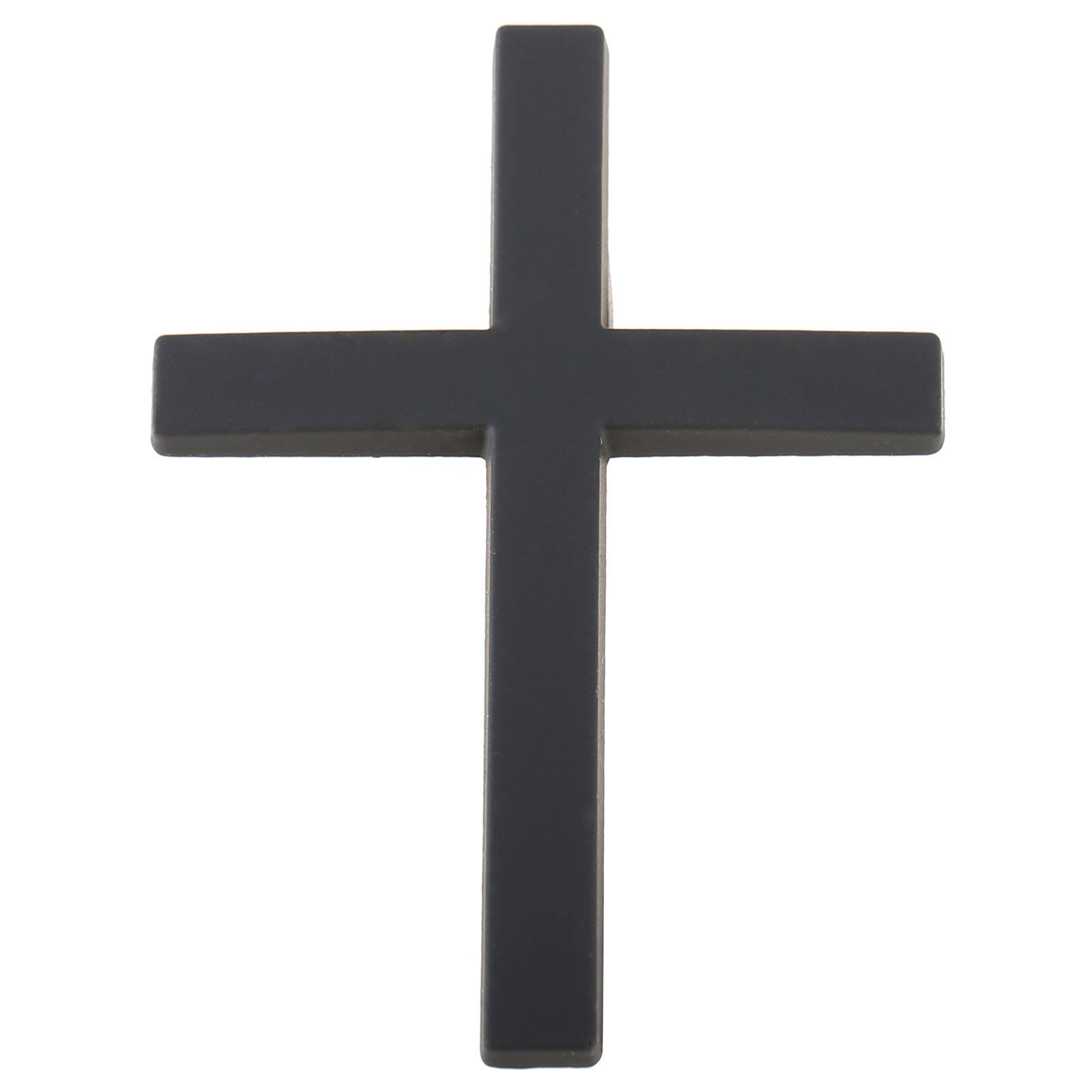 3D Metal Christian Cross Car Side Body Trunk Emblem Badge Sticker Decal Black