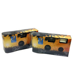Disposable Camera with Flash Build in 36exp FUJI Color Film and Alkaline Battery 35mm Film Camera with Customized Color Box