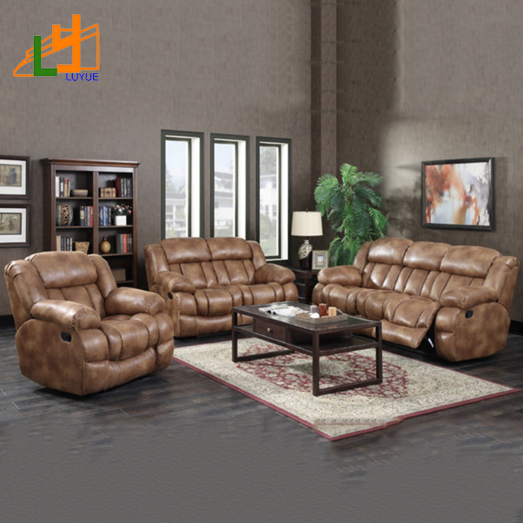 latest corner 6 seater sofa set design living room furniture sectional sofa recliner