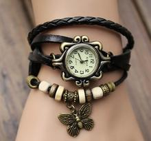 New Fashion With Butterfly Leaf Pendant Rope Bracelet Watch Geneva Quartz Luxury Women Twine Watch