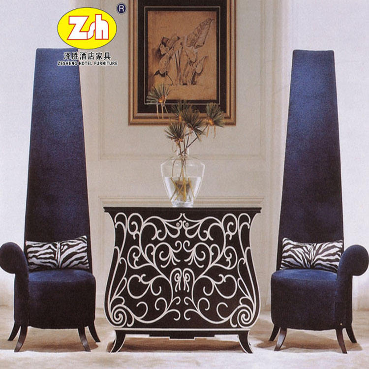 MDF and Solid wood hote lobby furniture ZH-T241